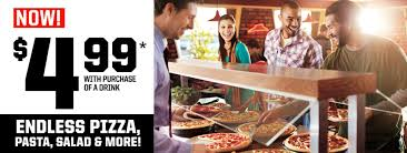 lunch buffet pizza hut endless pizza pasta salads and more