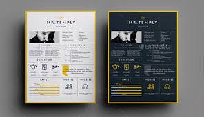 7 Striking Print Resume Templates For Visual Artists