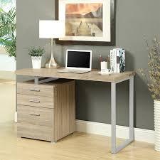 monarch specialties contemporary natural reclaimed computer desk