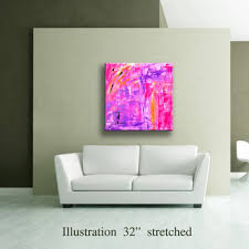 36 pink lavender purple orange yellow black original abstract acrylic painting on canvas wall art on lavender colored wall art with 36 quot yellow gray black original from editvorosart on etsy