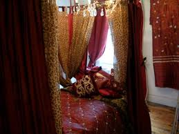 burdy velvet with leopard print voile curtains