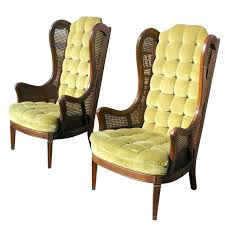 Queen Anne Wingback Chair Pair Of Leather Chairs Recliner Wing  Accent Large Winged   Armchair89