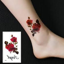 Senarai Harga X 498 Flowers Tattoo Stickers Waterproof Temporary Ink