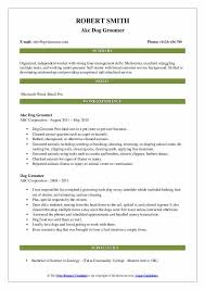 Dog Groomer Resume Dog Groomer Resume Samples Qwikresume