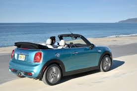 blue mini cooper convertible 2015. mini cooper s convertible rear blue 2015
