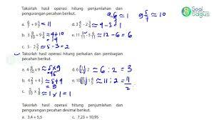Soal matematika kelas 6 semester 1 dan kunci jawaban kurikulum 2013. Kunci Jawaban Matematika Kelas 4 Halaman 39 40 Bse Matematika Kelas 4 Revisi 2018 Youtube