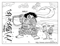 Moana Coloring Pages For Kids With Free Printable Disney Moana