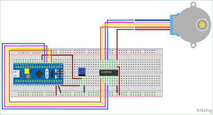 circuit diagram for interfacing stepper motor with stm32f103c8
