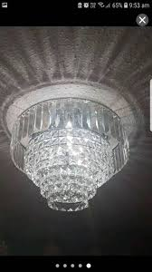 new crystal chandelier matching wall lights x2