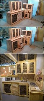 Pallet Kitchen Furniture 17 Best Ideas About Pallet Kitchen Cabinets On Pinterest Rustic
