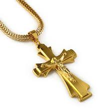 whole jewelry cross necklaces amp pendants gold plated big stainless steel cross pendant necklace men jewelry pendants necklaces gold