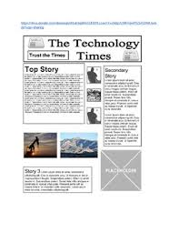 Newspaper Front Template Google Drawings Newspaper Front Page Template Tpt