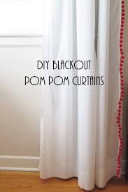 inspired by these pottery barn kids pom pom sheer curtain panels and these pbteen pom pom blackout ds i diy d a pair of ikea vivan curtainsinto these