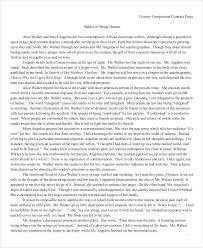 Example Literary Comparison Essay Comparative Essay