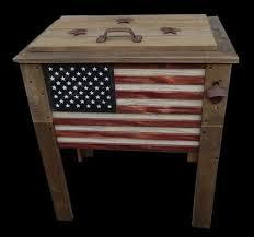 57 qt rustic wooden patio cooler w