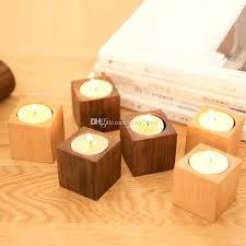 unfinished wood candle holders bulk large rustic
