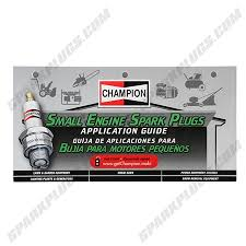 Champion Small Engine Spark Plug Application Flip Chart
