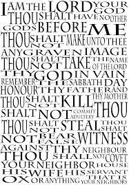 the ten commandments religious decorative arts prints posters wall art print