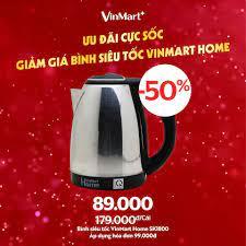 Chuỗi cửa hàng VinMart+ - ƯU ĐÃI CỰC SỐC - GIẢM GIÁ BÌNH SIÊU TỐC VINMART  HOME 😌 Ấm đun siêu tốc VinMart Home sẽ là vật dụng cần thiết cho cả