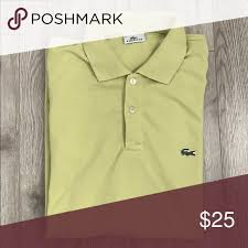 Lacoste Polo Shirt Color Chart Lacoste Lime Green Polo Short Sleeved Lime Green Color