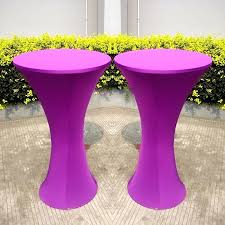 round table covers with elastic free blue round based spandex cocktail table cloths elastic stretch