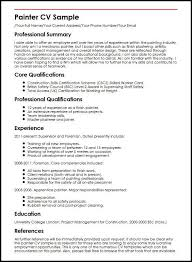 House Painter Resume Painter Resume Sample Magdalene Project Org
