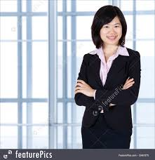 Asian woman in business