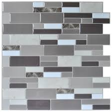 art3d l stick brick kitchen backsplash self adhesive wall tile stone gray design 6 sheets com