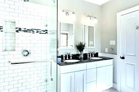 subway tile small bathroom ideas design white with tiles beveled shower ba