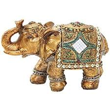 amazon com stunning gold color 6 elephant trunk statue wealth