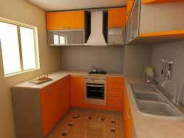 Orange And White Kitchen Appealing Orange Kitchen Cabinets For Small Kitchen Spaces