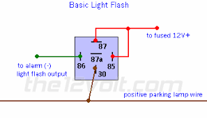 12 volt flasher relay wiring diagram illuminated entry and light flash relay diagrams basic light flash relay diagram
