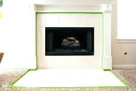 trim around fireplace insert tile fireplace hearth painted surround