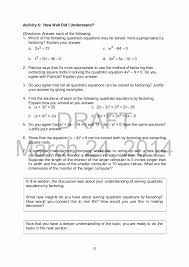 solving quadratic equations worksheet with answers awesome mathematics 9