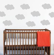 Floating Cloud Bed Floating Clouds Wall Stickers By Little Chip Notonthehighstreetcom