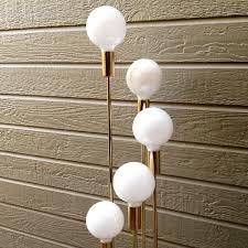 mid century modern robert sonneman style 5 bulb spiral floor lamp brass gold hollywood regency sputnik atomic lighting home decor