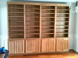 Shelves With Sliding Doors Custom Made Unfinished And Finished