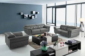 Stylish design furniture Sofa Set Image Stylish Design Furniture Divani Casa Perry Modern Grey Leather Sofa Set Stylish Design