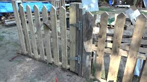 wood picket fence gate. Making A Pallet Wood Picket Fence Gate