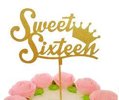 Amazoncom El Crown Sweet Sixteen Cupcake Topper Set Of 12 Golden