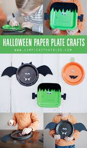 Halloween Paper Plate Crafts | Paper plate crafts, Craft and Dollar stores