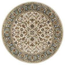 mystic william ivory 9 ft x 9 ft round area rug