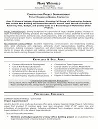 monster resume name resume sample 23 construction superintendent resume career resumes