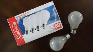 Light Bulb Youtube Sunbeam 60watt Frost Incandescent Light Bulbs