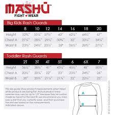 Youth Size Chart Mashu Fight Wear