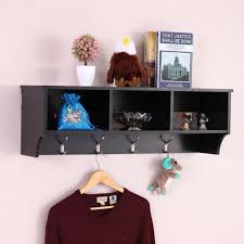 Coat Rack With Storage Shelves Cool Home Entryway Wall Mount Cabinet Coat Rack Storage Shelf Organizer 32