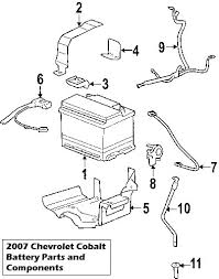 2007 chevrolet cobalt battery and cable diagram