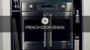 GE Cafe French Door Wall Oven - YouTube