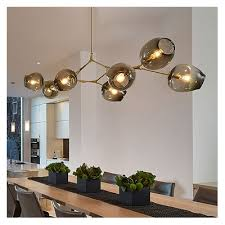 abstract multi arm chandelier post modern 3 5 6 7 8