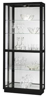 680572 howard miller black contemporary curio jayden 680572 howard miller contemporary four shelves curio cabinet